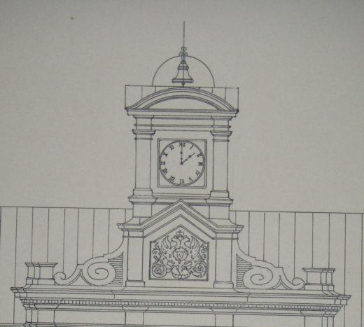 Архитектор Н.Л. Бенуа первоначально спроектировал здание Аудиторий (ныне 10-й корпус) без башни-часозвони, и был вынужден переделывать проект в процессе строительства здания.