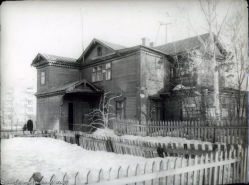 Вид на восточный фасад дачи Туркина в 1960-х