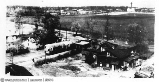Панорама из Профессорского дома в сторону Лесной дачи и Опытных полей Тимирязевской академии. Снимок сделан в период с 1935-1941.
