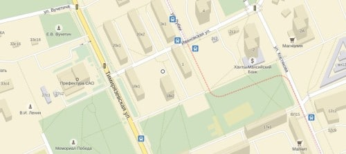 Ивановская улица, владение №4, дача владельца Ламповой и электропринадлежностей фирмы Аарона Ефимовича Шнейдера. Курсы удобно находились рядом с трамвайной остановкой.