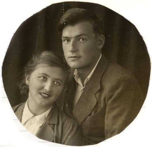 Борис и Нонна в 1942 году в Чимкенте в эвакуации