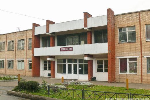Это новое здание зоостанции на Пасечной улице. Прежние деревянные строения находились сразу за фермой и из-за ветхости были снесены до 1980 года.